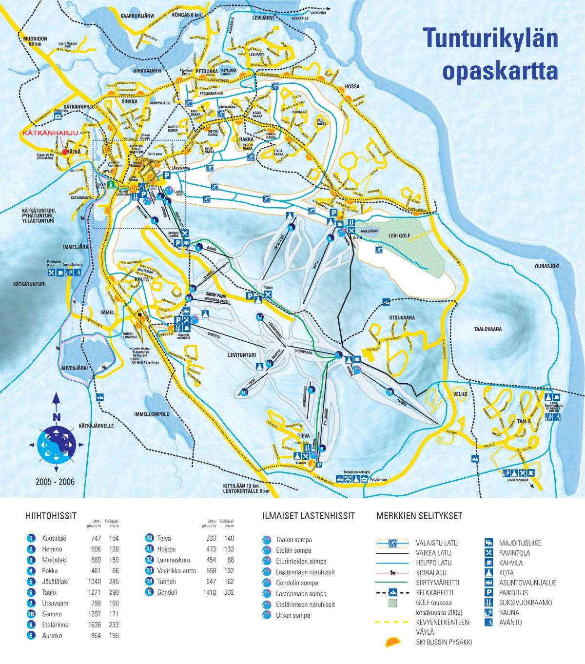Levi Mokkien Vuokraus Kartta